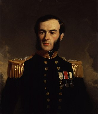 Edward Augustus Inglefield - Portrait by Stephen Pearce, 1853.