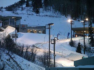 Utah Olympic Park Track - Looking at bobsled/skeleton start and men's luge start