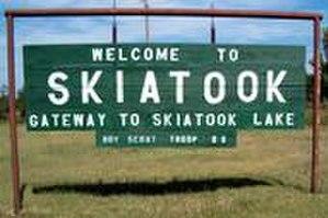 Skiatook, Oklahoma - sign on Hwy-20
