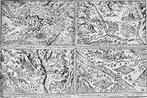 Bündner Wirren - Drawings of the League/Duke Henri de Rohan invasion of the Valtellina.