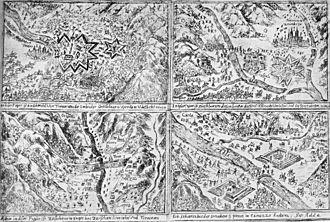 Bündner Wirren - Drawings of the League/Duke Henri de Rohan invasion of the Valtellina.