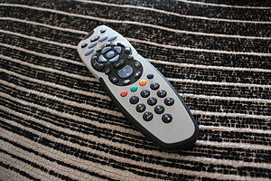 A remote control for the Sky+ satellite TV ser...