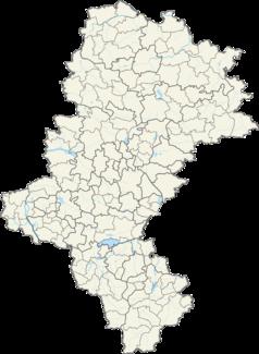 Mapa lokalizacyjna województwa śląskiego