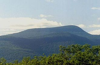 Mountain - The Catskills in Upstate New York represent an eroded plateau.