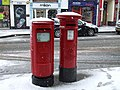 Snow capped post boxes, Omagh - geograph.org.uk - 1691401.jpg