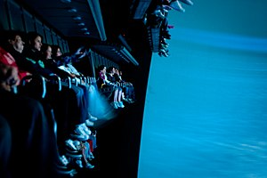 Soarin' - Three rows of seating for the ride