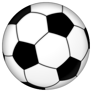 A football (soccer ball) with full icosahedral...