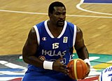 Schortsanitis playing for Greece