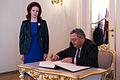 Solvita Āboltiņa tiekas ar Gruzijas parlamenta priekšsēdētāju (10667011805).jpg