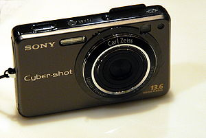 A Sony Cybershot DSC-W300 digital still camera.
