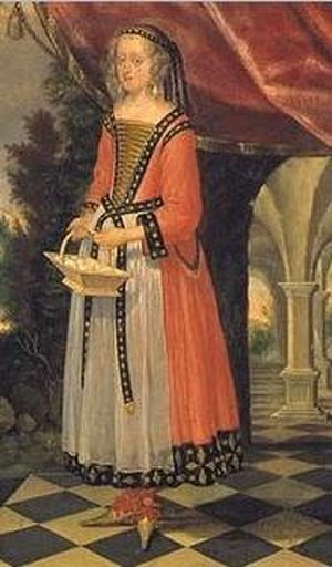 Sophie Amalie of Brunswick-Lüneburg - Sophie Amalie dressed in theatrical garb, as part of the theatre of court by Heimbach
