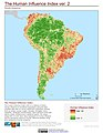 South America The Human Influence Index, version 2 (5458038662).jpg