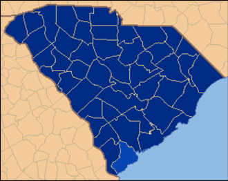 United States presidential election in South Carolina, 1932 - Image: South Carolina Locator Map 1932 election