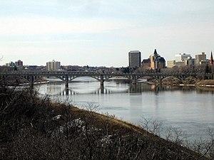 Meewasin Valley Authority - The University Bridge over the South Saskatchewan River at Saskatoon