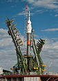 Soyuz TMA-01M raised into vertical position.jpg