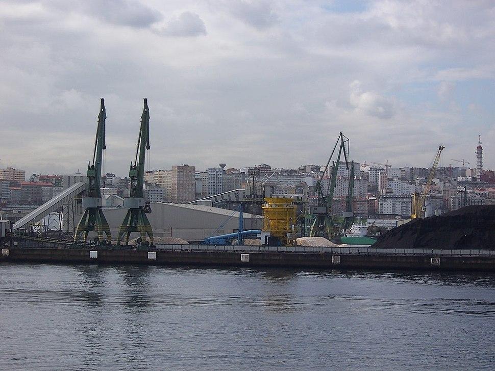Spain LaCoruna harbor