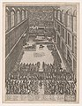 Speculum Romanae Magnificentiae- A Papal Gathering in the Sistine Chapel, Michelangelo's Last Judgement on the back wall; the crowd looks on through a screen MET DP856841.jpg