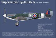 Spitfire Mk. IX Johna E. Johnsona