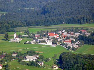 Srednja Dobrava Place in Upper Carniola, Slovenia
