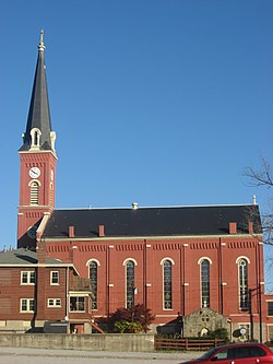St. Rose's Catholic Church in Cincinnati, western side.jpg
