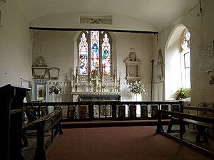 English: St Bartholomew, Ashperton The chancel...
