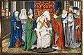 St Hubert of Liège is consecrated bishop by Pope Sergius.jpg