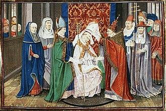Hubertus - Saint Hubertus being consecrated Bishop by Pope SergiusI.
