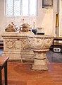 St Michael and All Angels, Lambourn, Berks - Tomb and Font.jpg