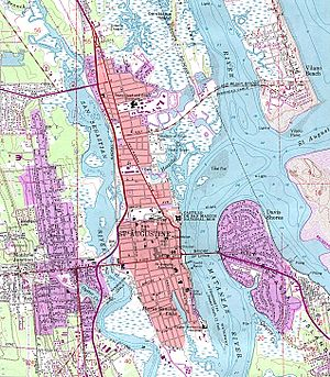 Matanzas Bay - United States Topographical Map of St. Augustine, Florida