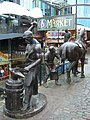 Stables Market blacksmith's forge sculptures - geograph.org.uk - 1712756.jpg