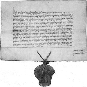 German town law - Town charter for Höchst on Main and Gau-Algesheim from February 11, 1355