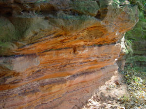 Triassic - Triassic sandstone near Stadtroda, Germany