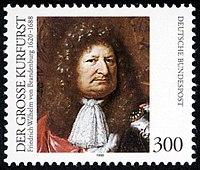 Briefmarke der Deutschen Bundespost (1995) anlässlich des 375. Geburtstages (Quelle: Wikimedia)