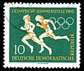 Stamps of Germany (DDR), Olympische Sommerspiele 1960, 10 Pf.jpg