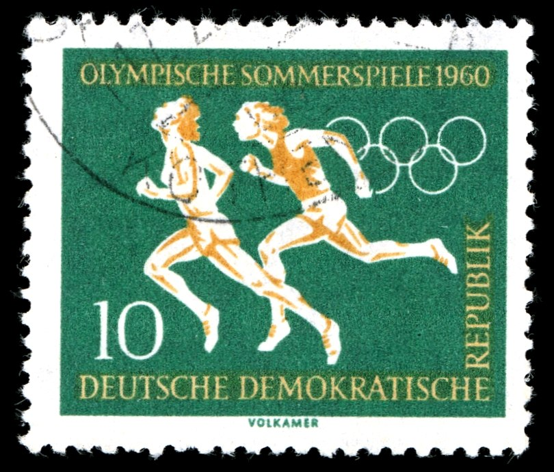 Stamps of Germany (DDR), Olympische Sommerspiele 1960, 10 Pf