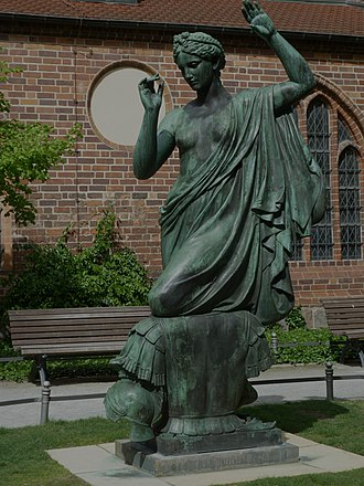 Clio - Statue of Clio by Albert Moritz Wolff in Berlin