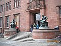 Statues of Homer and Aristotle at the University of Freiburg - panoramio.jpg