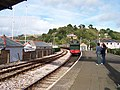 Steam train coming into Kingswear Station - geograph.org.uk - 124031.jpg