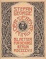Stefan George - Der siebente Ring. Blätter für die Kunst, 1907.jpg