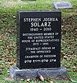 Stephen Solarz grave - Congressional Cemetery - Washington DC - 2012.jpg