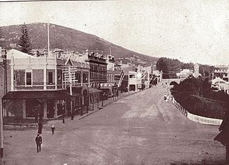"""Stirling Terrace, Albany - Stirling Terrace looking east in 1912, from """"Alluring Albany"""""""