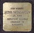 Stolperstein Danckelmannstr 36 (Charl) Ester Weingarten.jpg