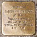 Stolperstein Jakob Friedmann by 2eight 3SC1345.jpg