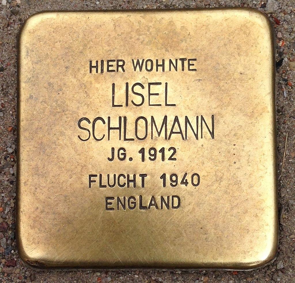Stolperstein Malchow Lange Straße 43 Lisel Schlomann