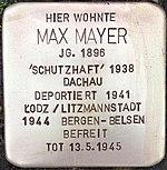 Stolperstein für Max Mayer (Bruchstraße 31)