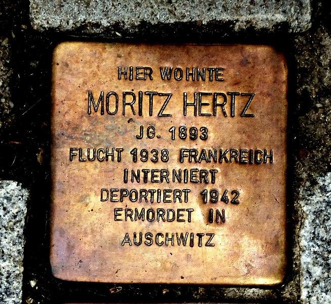 Datei:Stolperstein Moritz Hertz, Guntersblum.JPG