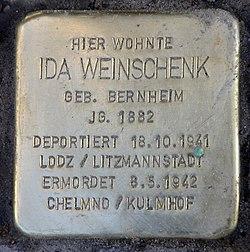 Photo of Ida Weinschenk brass plaque