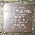Stolpersteine Herford Komturstraße 16 Martha Weingarten.JPG
