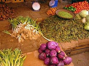 Zanzibari cuisine - Spice stall, Stone Town market
