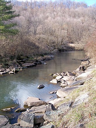 Stonecoal Creek - The Right Fork of Stonecoal Creek, downstream of Stonecoal Lake in 2006